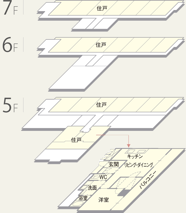 ヒルトガーデン 5.6.7階